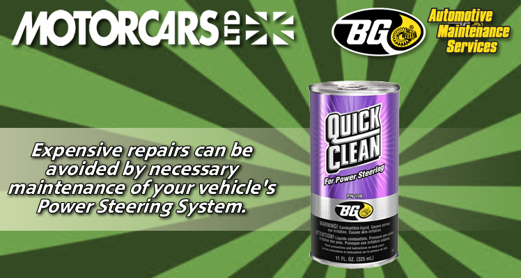 Motorcars Ltd – BG Power Steering Service
